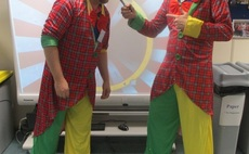 Enta hosts a couple of clowns