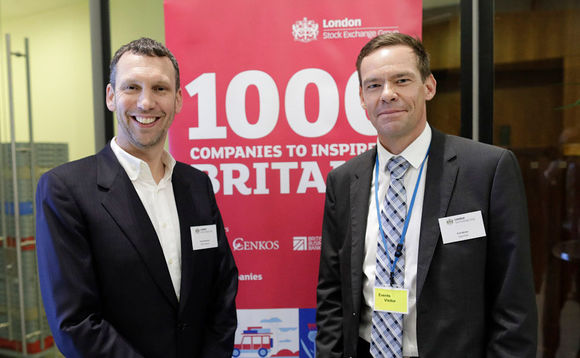 Dave Stevinson, QBS MD (left), with Erik Moller, OpenText's director of channels EMEA
