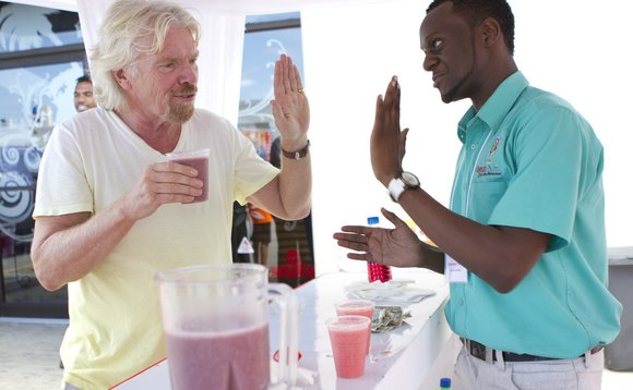 Don't crush my hand, warns Richard Branson